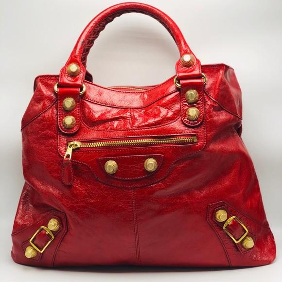 6eeef4d61a Balenciaga Bags | Euc Cherry Red Giant 21 Brief Bag | Poshmark